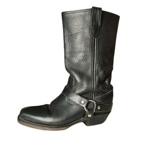 Double H Ladies Harness Boot size 9 Black Leather Moto